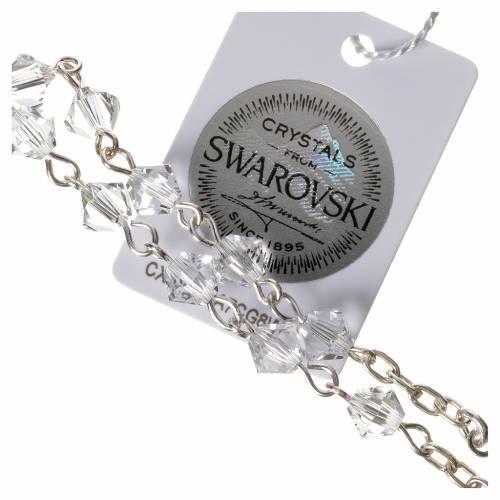 Rosario decina argento 800 Swarovski trasparenti s3