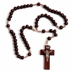 Rosario francescano legno scuro s1