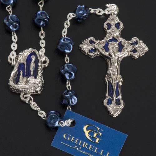 Rosario Ghirelli Gruta de Lourdes azul 8mm s2
