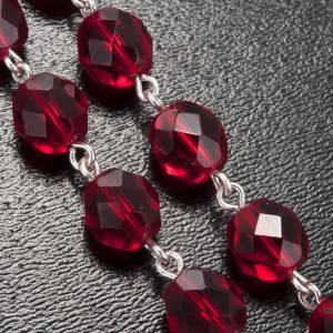 Rosario Ghirelli gruta Lourdes vidrio rojo rubí s5