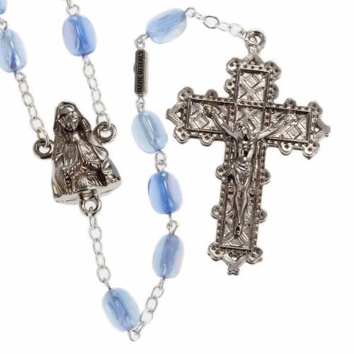 Rosario Ghirelli Lourdes vetro ovale azzurro s1