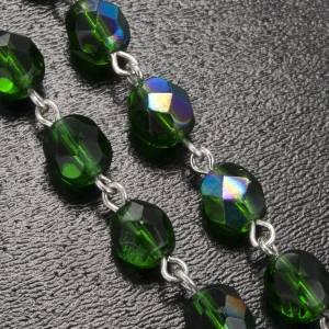 Rosario Ghirelli madonna lourdes tondo verde 7 mm s5