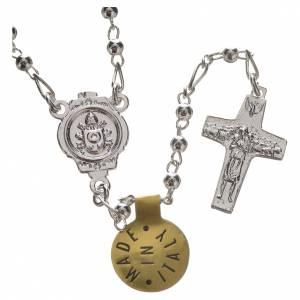 Rosari argento: Rosario in Argento 925 Papa Francesco 3 mm