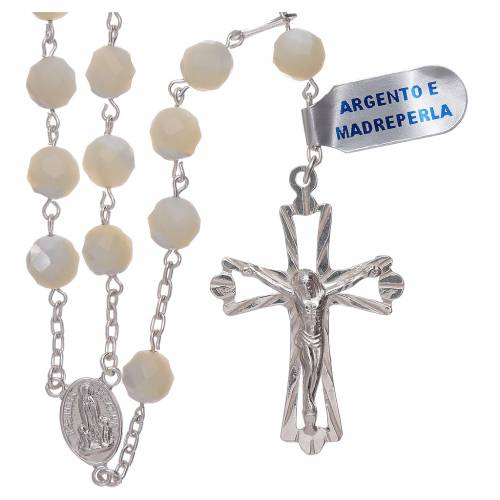 Rosario Madonna di Fatima centenario dall'apparizione argento s1