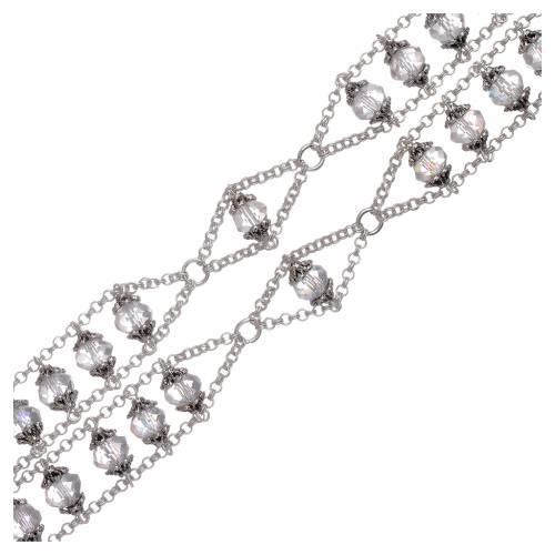 Rosario Medjugorje doppia catena cristallo trasparente s3