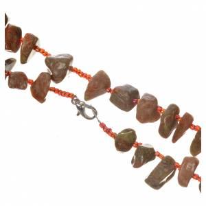 Rosari portarosari Medjugorje: Rosario Medjugorje pietra dura color marmo rosso