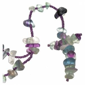 Rosari portarosari Medjugorje: Rosario Medjugorje pietra dura color verde acqua