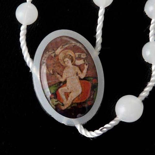 Rosario nylon bianco Gesù bambino Wettingen 5 mm s4