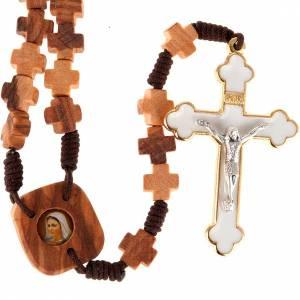 Rosario olivo cuentas a cruz s1