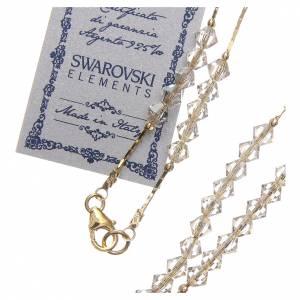 Rosario Swarovski e argento 925 dorato 4 mm borealizzato s3