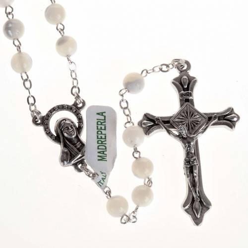Rosario vera Madreperla crociera Madonna 6 mm s1