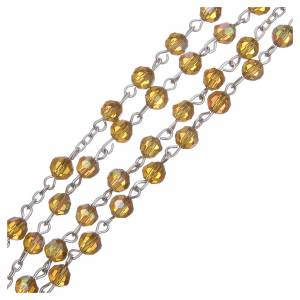 Rosary beads in crystal, 6mm, amber s3