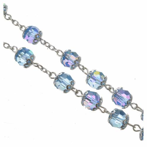 Rosary beads in crystal, 7mm Lourdes s6