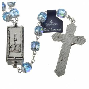 Rosary beads in crystal, 7mm Lourdes s4