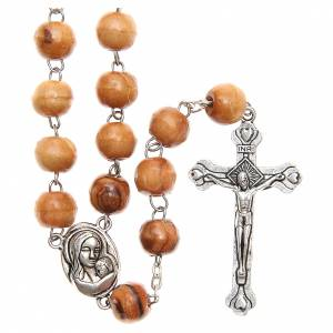 Rosary beads in Holy Land olive tree wood with soil s1