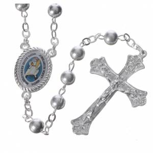 Metal rosaries: STOCK Rosary beads in metal with Jubilee of Mercy symbol 6mm