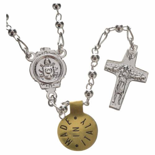 Rosary beads in silver, Pope Francis 0,12in s2