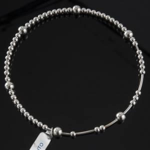 Rosary bracelet, sliding beads in 800 silver s2