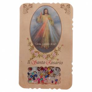 Economical rosaries: Rosary with Divine Mercy leaflet mysteries litanies