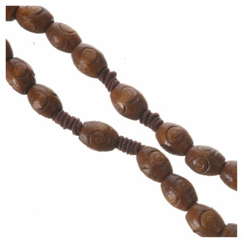 Rosary with wood and elastic 6x8mm s3