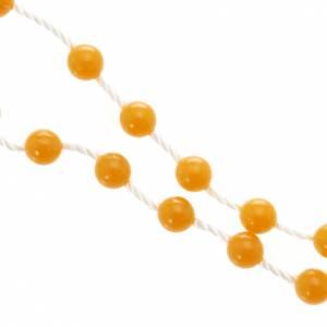 preiswerte Rosenkränze: Rosenkranz orange Nylon