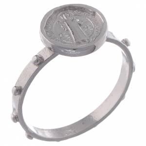 Gebetsringe: Rosenkranz Ring Silber 800 Hl. Benedikt