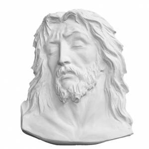 Rostro de Cristo de 24 cm  de mármol de Carrara s1