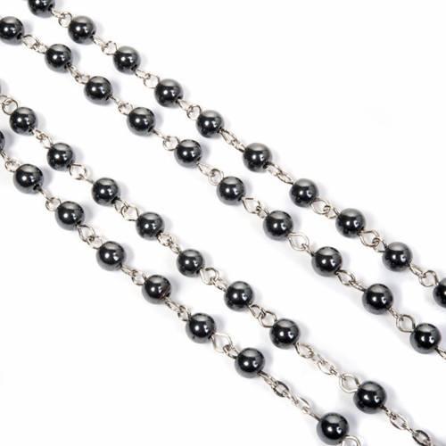 Round beads hematite rosary s2