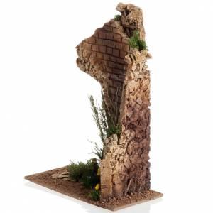 Ruines et fleurs miniature crèche Noel s4