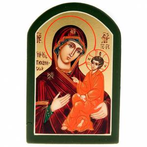 Russian icon Odighitra red mantle 6x9cm s1