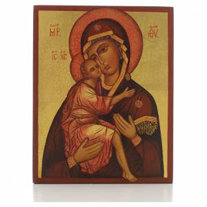 Russian icon, Our Lady of Belozersk 14x11cm s1