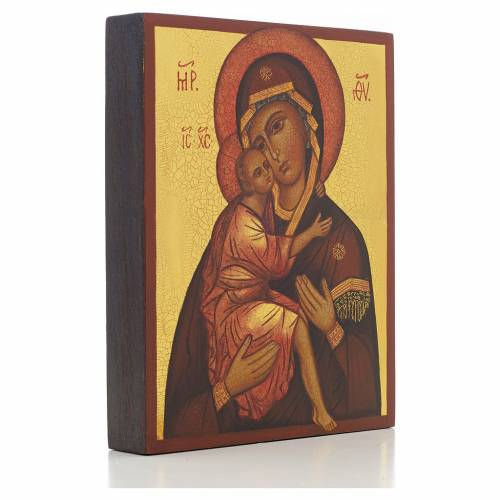 Russian icon, Our Lady of Belozersk 14x11cm s2