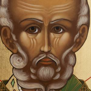 Russian hand-painted icons: Russian icon Saint Nicholas, painted