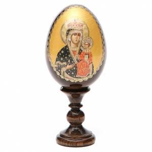 Handgemalte Russische Eier: Russische Ei-Ikone Gottesmutter Chentohovskaya 13cm Decoupage