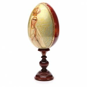 Handgemalte Russische Eier: Russische Ei-Ikone Gottesmutter von Fatima 36cm HANDGEMALT