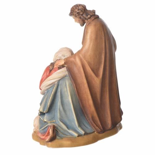 Sacra Famiglia con pecora legno Valgardena dipinto s3