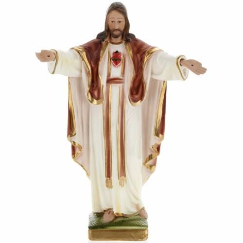 Sacred Heart of Jesus in plaster, 30 cm s1