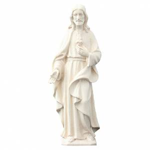 Sacred Heart of Jesus Val Gardena natural wood s1