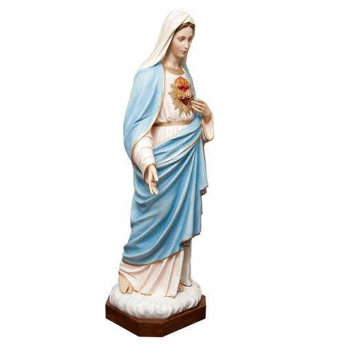 Sacred Heart of Mary statue in painted fiberglass 165cm s5