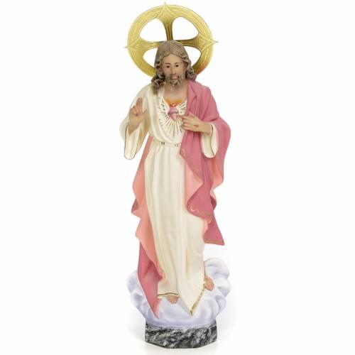 Sacro Cuore di Gesù 30 cm pasta di legno dec. fine s1