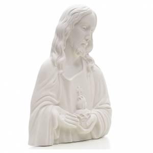 Sacro Cuore di Gesù marmo sintetico rilievo s2