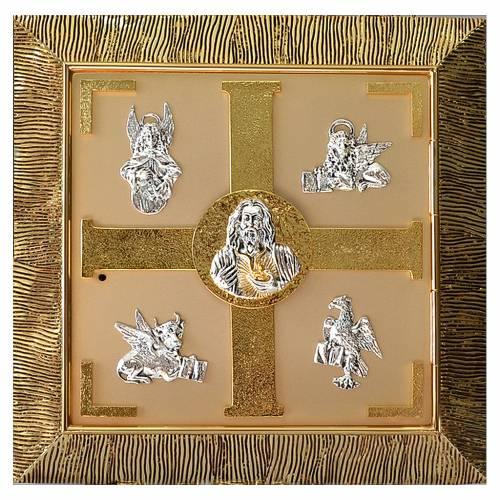 Sagrario de pared latón fundido dorado Evangelistas s1