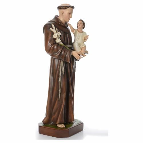 Saint Anthony of Padua, statue in coloured fiberglass, 130cm s4