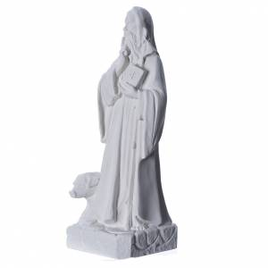 Saint Anthony the Abbot in reconstituted Carrara marble, 35 cm s2