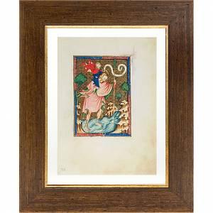 Paintings, printings, illuminated manuscripts: Saint Christopher illuminated manuscript