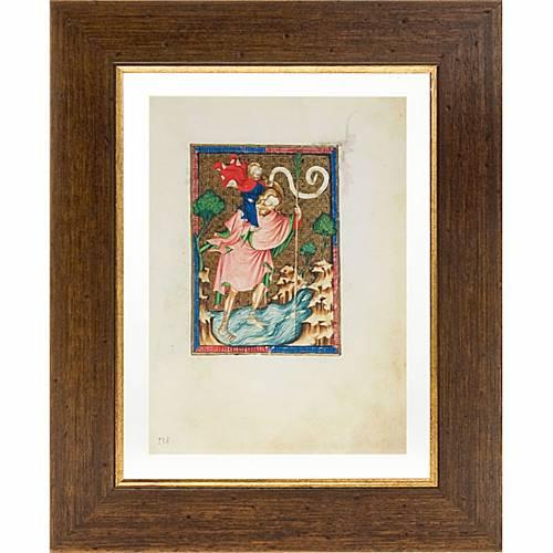 Saint Christopher illuminated manuscript s1