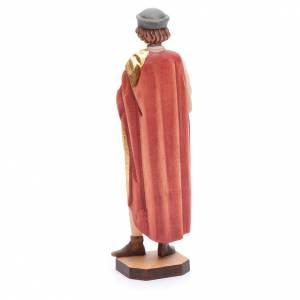 Saint Damien avec mortier 25 cm bois peint Valgardena s3