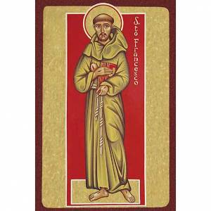 Holy cards: Saint Francis of Assisi with book Holy Card