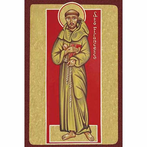 Saint Francis of Assisi with book Holy Card s1