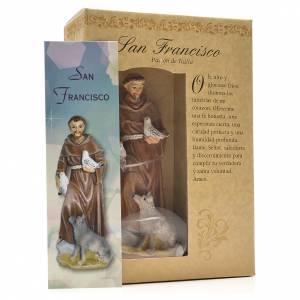 Saint François de Assise 12cm image et prière en Espagnol s3
